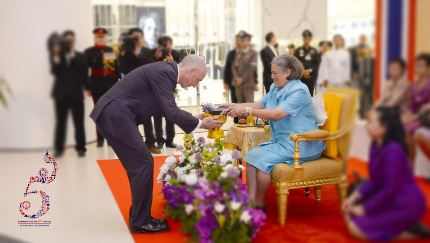Her Royal Highness presides over new exhibition opening depicting Thai-UK relations